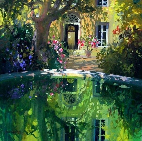 Солнечные картины художника Лорана Парселье