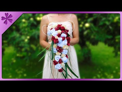 DIY How to make cascading bouquet, for wedding (ENG Subtitles) - Speed up 501