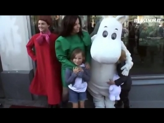 Björk and Isadora attend The Moomins & The Comet Chase premiere (Helsinki 2010)