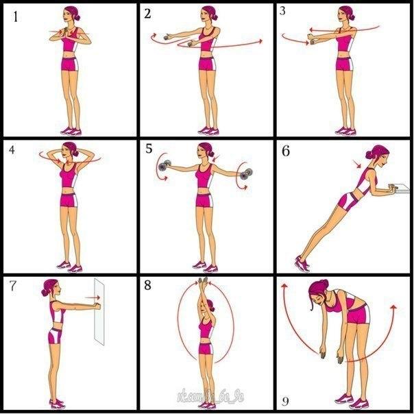 Упражнения для увеличения мышц в домашних условиях 11