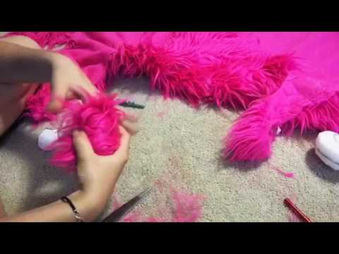 How to make Fursuit hand paws part 2 furring