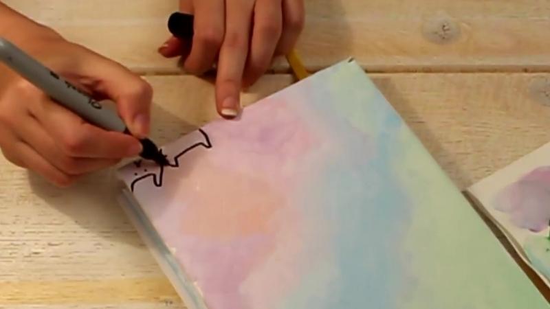 ✎ DIY Личный Дневник, Блокнот ❤ Обложка Оформление Разворота ✎