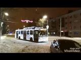 Реклама на троллейбусах в г. Альметьевск