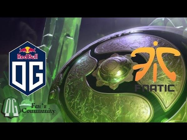 OG vs Fnatic - Game 2 - The International 2018 - Group Stage.