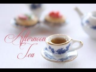 Миниатюрный чай с пирожными для кукольного домика, полимерная глина, урок