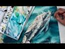Акварель. Дельфин