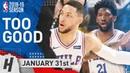 Ben Simmons Joel Embiid SHOCKED the Warriors! SICK Highlights 2019.01.31 - 26 Pts Each!