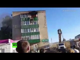 Опубликованы кадры с места взрыва в жилом доме в Татарстане