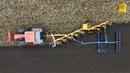 Fiat Fiatagri 180 90 Tractor zieht 8 Schar Drehpfug Packer problemlos furrow plow Pflügen on land