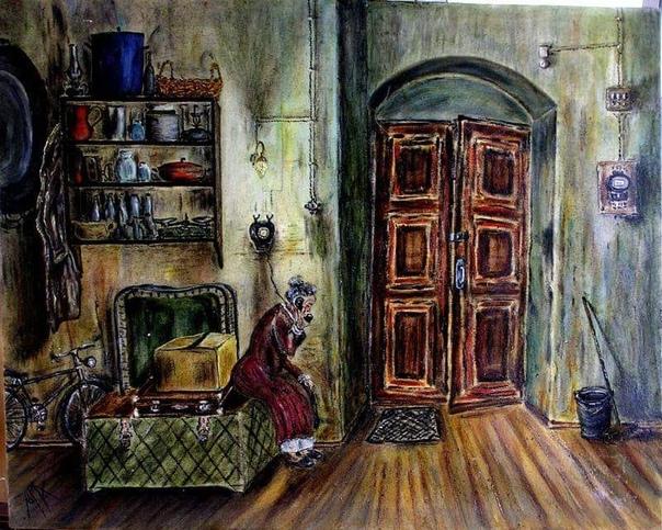 квартира её население похоже на примитивное племя. когда-то тут жил один человек — профессор барков, у него, на конспиративном заседании большевиков, бывал ленин. поэтому на наружной стене дома