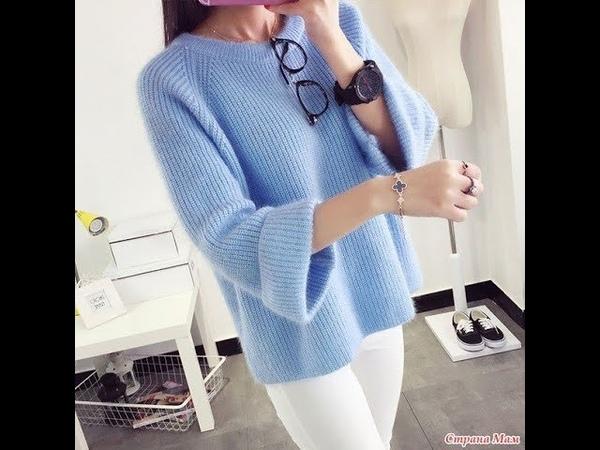 Пуловер спицами.Размер 50-52.Часть №1