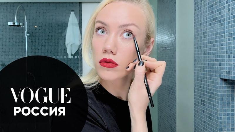 Елена Крыгина показывает как быстро накраситься на вечеринку