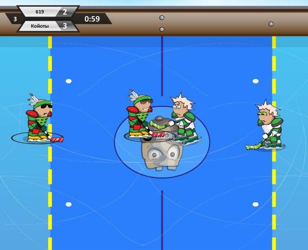 Игра Хоккей без правил Играть онлайн бесплатно