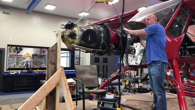 Mike Patey Wilga DRACO Video 5 Engine Mount