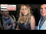 Jennifer Coolidge talks about future American Pie Movies outside of Hennessys Nightclub in Hollywoo