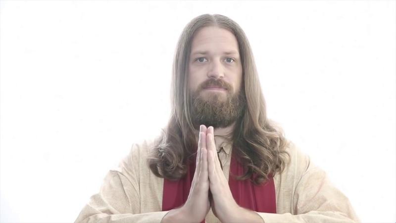 Jesus reciting Unlimited Blade Works chant with Emiya theme