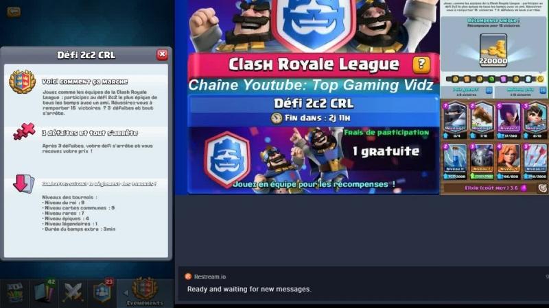 Clash Royale Défi 2c2 CRL Je fais mon défi en LIVE avec les abonnés