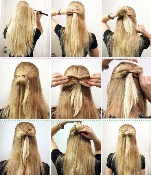 бантик из волос за 30 секунд