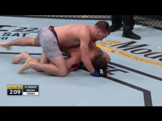 Ufcs jarred brooks loses fight when he knocks himself out trying to slam someone. lol - vi