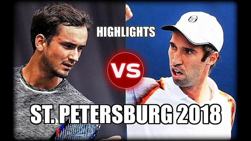 Daniil Medvedev vs Mikhail Kukushkin ST. PETERSBURG 2018 Highlights