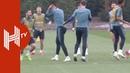 Gonzalo Higuain Ruben Loftus Cheek nutmegged during Chelsea training