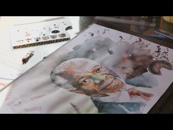Кофи Аннан в стиле граффити
