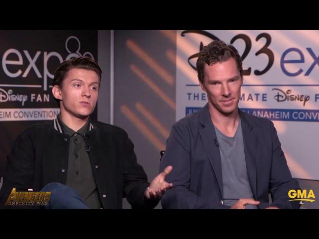 Benedict Cumberbatch Stops Tom Holland From Revealing Any Big Avengers Infinity War Secrets