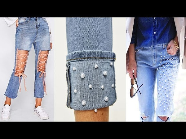 DIY Jeans DIY Clothes T Shirt cut Old Clothes Into New Clothes 2018