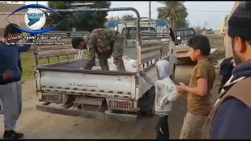 Гуманитарная помощь для жителй Al-Garnaj Deir Al-Zour