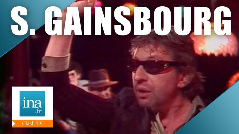 Serge Gainsbourg s'énerve dans Droit de réponse de Michel Polac Archive INA