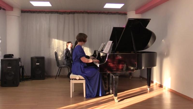 С.В.Рахманинов Баркарола из Сюиты №1 для 2-х фортепиано. Исполняют А.Трушкова, А.Бугаян