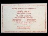 Josquin des Prez Philippe Caillard Vocal Ensemble, 1961 Missa Pange Lingua (Part 1)