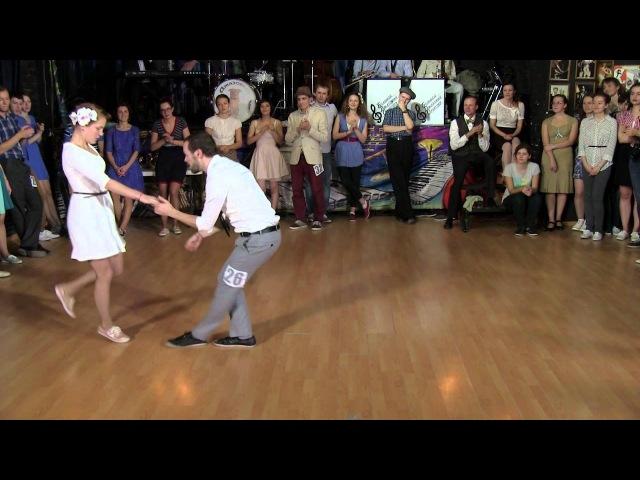 Daria Chupyrkina Igor Ben Lindy Hop Invitational at Sultans of Swing 2013