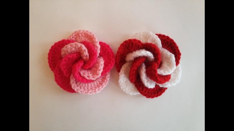 Tığ İşi Gül Yapımı Crochet Flower