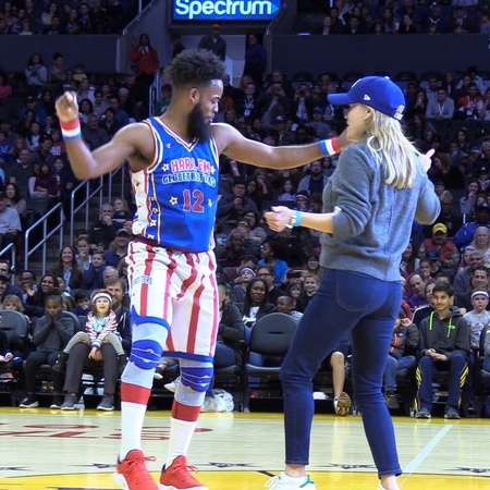 """Harlem Globetrotters on Instagram: """"When you get to dance with @reesewitherspoon 😍 @lilant1112 🕺🏽"""""""