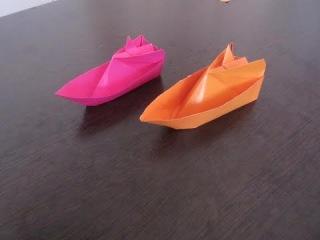 как сделать катер из бумаги!!!