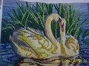 Схема для вышивки бисером Пара лебедей.  Арт.  ЧВ-3038.