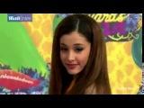 Ariana Grande in electric orange at 2014 Kids' Choice Awards
