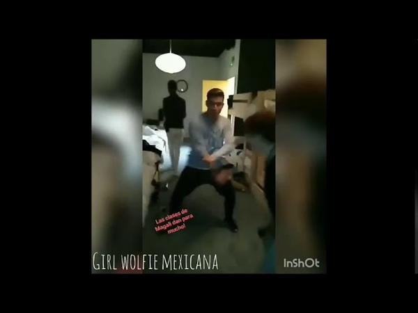 Raoul en su instagram bailando con Marina en la habitación de OT (3 de noviembre de 2017)