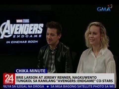 24 Oras Brie Larson at Jeremy Renner, nagkuwento tungkol sa kanilang Avengers Endgame co-stars