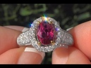 Ruby Diamond Cocktail Engagement Ring 14k White Yellow Gold GIA Certified 2.99 TCW - C278