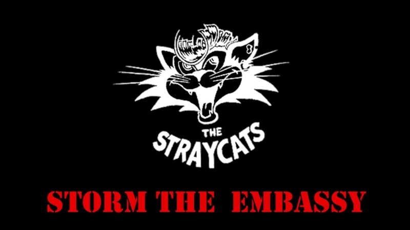 Stray Cats - Storm the embassy 1981