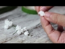 DIY paper baby breath flower from tissue paper, SUPER SIMPLE and REALISTIC.mp4