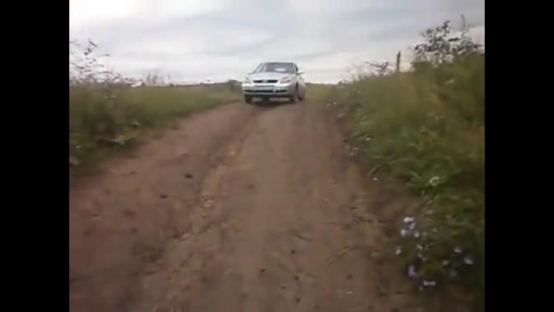 Приора тащит КрАЗ 6 sec