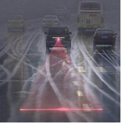 Лазерный луч на автомобиль - устройство повышающее безопасность вождения машины в условиях недостаточной видимости будь