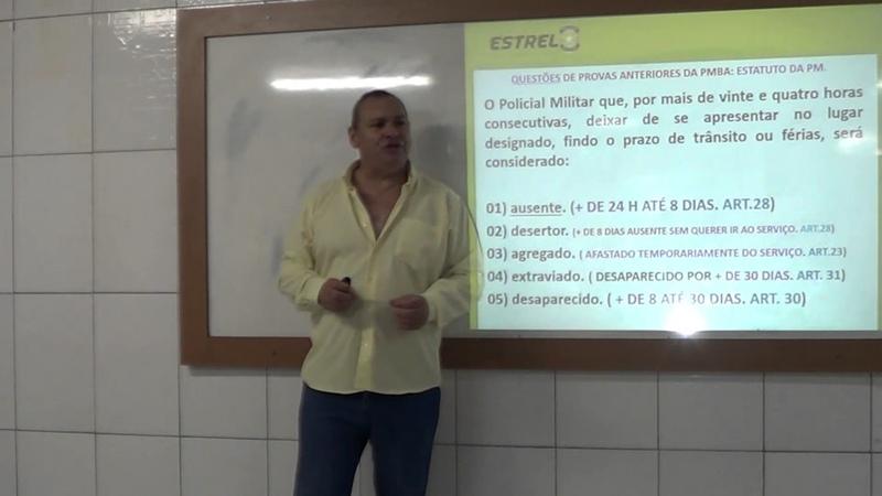 Aula 004: QUESTÕES DE ESTATUTO PM (Ausente, Desertor, Desaparecido e Extraviado).