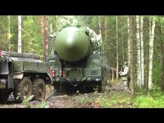 Вывод пусковых установок «Ярс» на полевые позиции Тагильским ракетным соединением в ходе КШУ
