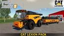 Farming Simulator 19 - CAT LEXION 690 Combine Wheat Harvest