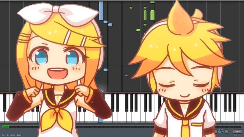 Electric Angel [えれくとりっく・えんじぇぅ] - Kagamine Rin Len (Piano Synthesia)