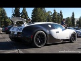 BLACK and WHITE Bugatti Veyron Supersport at Supercar Sunday